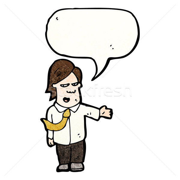 Cartoon продавцом человека говорить ретро рисунок Сток-фото © lineartestpilot