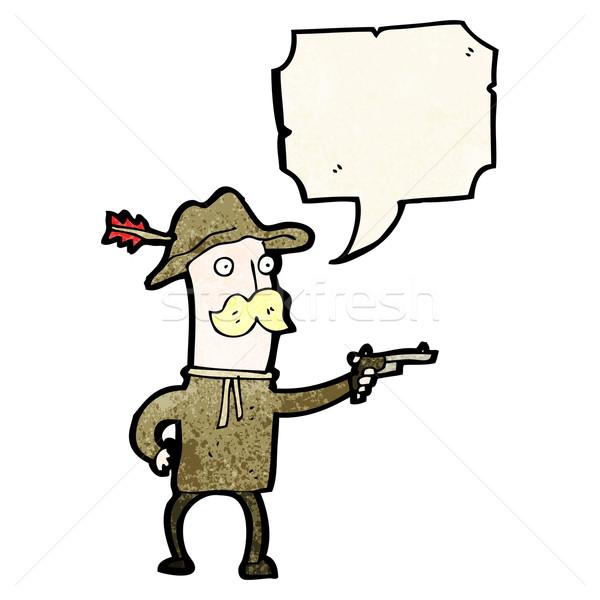 Cartoon cowboy retro rysunek cute ilustracja Zdjęcia stock © lineartestpilot