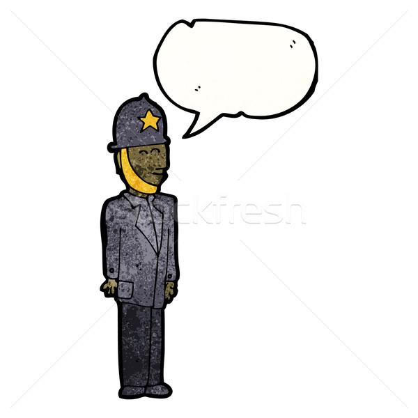 cartoon uniformed british police officier Stock photo © lineartestpilot