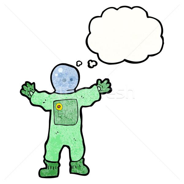 cartoon spaceman Stock photo © lineartestpilot