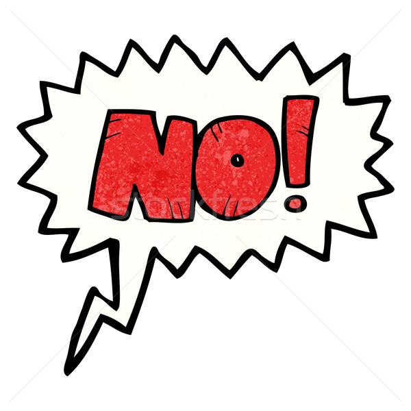 cartoon comic book No! shout Stock photo © lineartestpilot