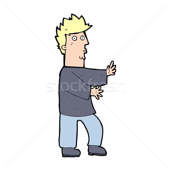 漫画 神経質な 男 デザイン 芸術 ストックフォト © lineartestpilot