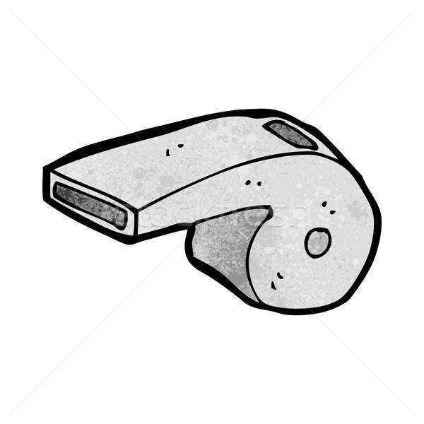 Karikatür ıslık el dizayn çılgın kırpmak Stok fotoğraf © lineartestpilot