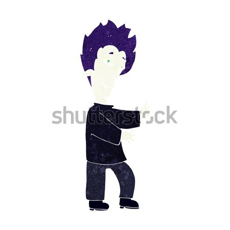 Stockfoto: Cartoon · vampier · hand · ontwerp · gek · mannelijke