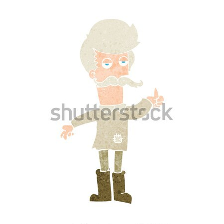 cartoon old man in poor clothes Stock photo © lineartestpilot