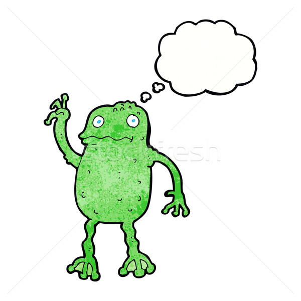 cartoon frog with thought bubble Stock photo © lineartestpilot