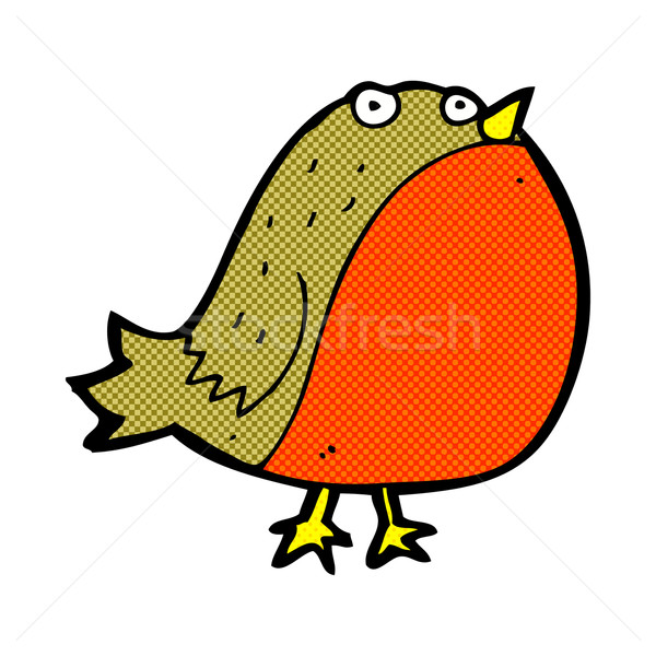 comic cartoon robin Stock photo © lineartestpilot