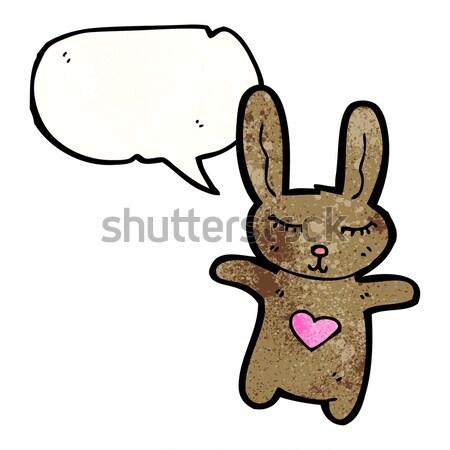 Cartoon caballo cabeza burbuja de pensamiento mano diseno Foto stock © lineartestpilot