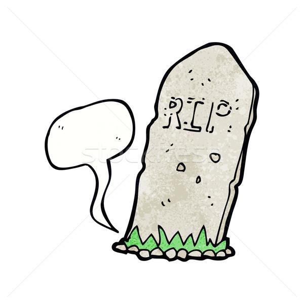cartoon spooky grave with speech bubble Stock photo © lineartestpilot