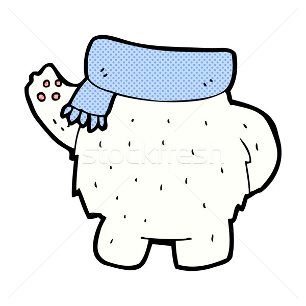 comic cartoon polar bear body (mix and match or add own photos) Stock photo © lineartestpilot