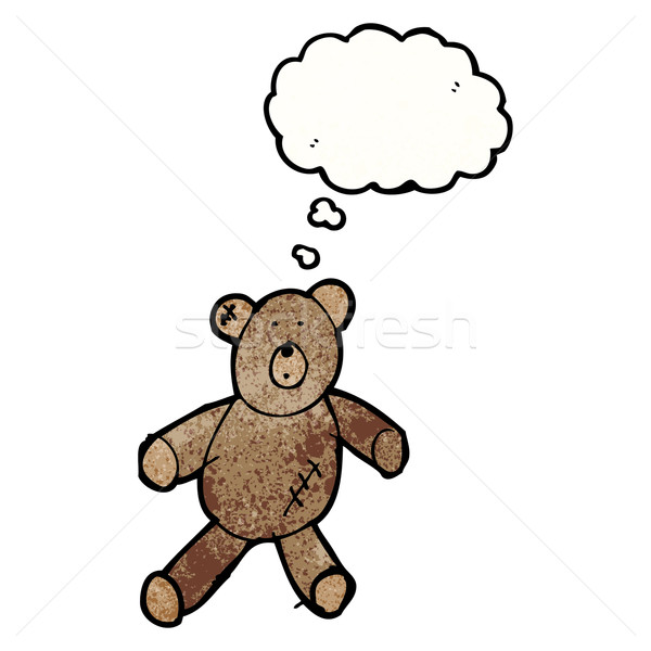 child's drawing of a teddy bear with thought bubble Stock photo © lineartestpilot