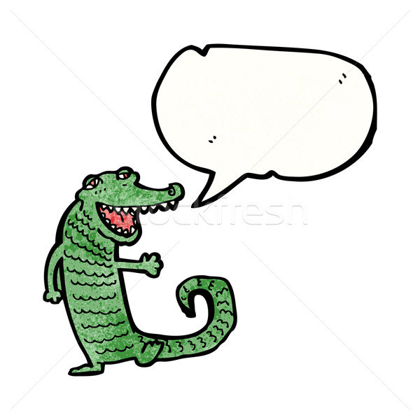 Cartoon крокодила текстуры стороны счастливым рисунок Сток-фото © lineartestpilot