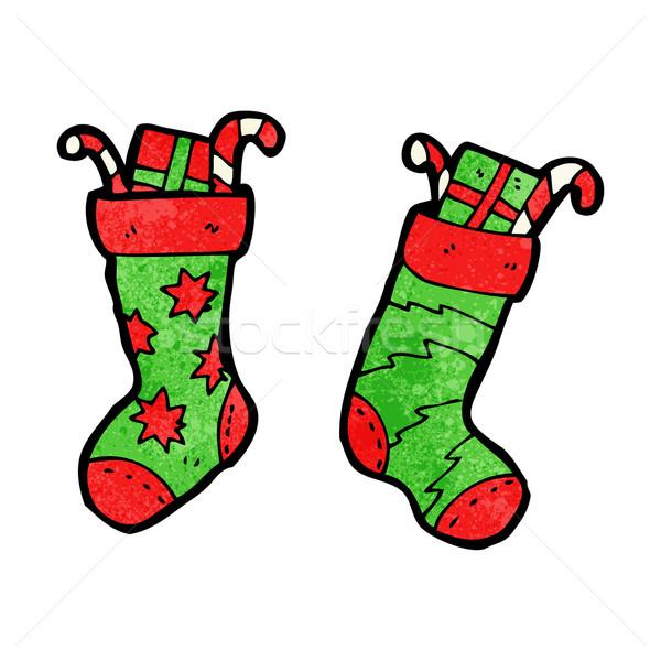 Christmas Stocking Cartoon Vector Illustration C Lineartestpilot 3111908 Stockfresh