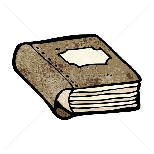 Libro viejo Cartoon arte hablar biblioteca retro Foto stock © lineartestpilot