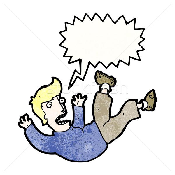 cartoon man falling Stock photo © lineartestpilot