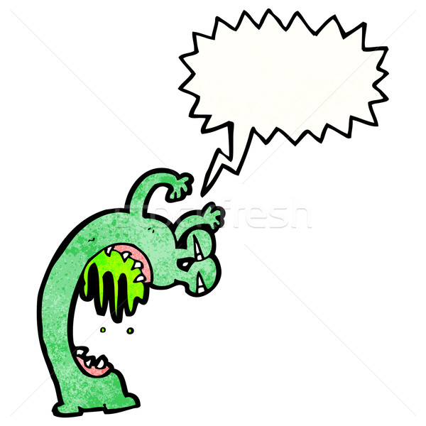 cartoon gross alien Stock photo © lineartestpilot