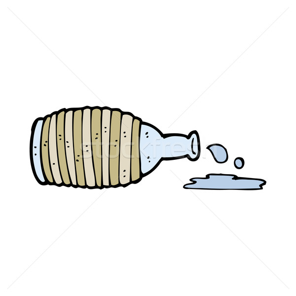 cartoon spilled bottle Stock photo © lineartestpilot