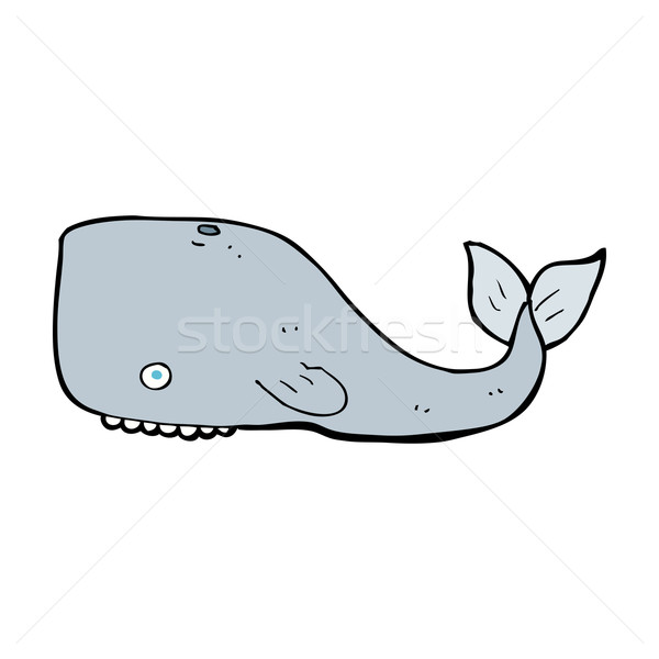 Karikatür balina dizayn sanat Retro komik Stok fotoğraf © lineartestpilot