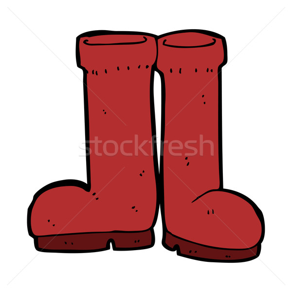 cartoon rubber boots Stock photo © lineartestpilot