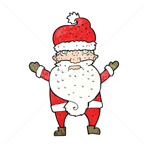 cartoon grumpy santa Stock photo © lineartestpilot