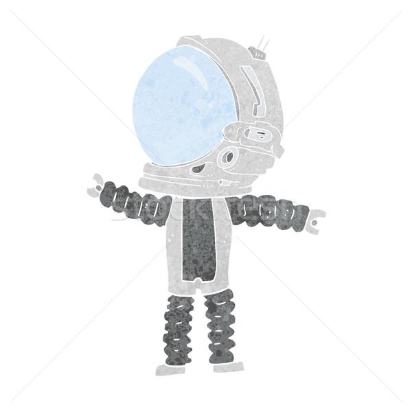 Karikatür astronot dizayn sanat Retro komik Stok fotoğraf © lineartestpilot