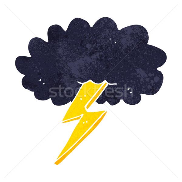 cartoon lightning bolt and cloud Stock photo © lineartestpilot