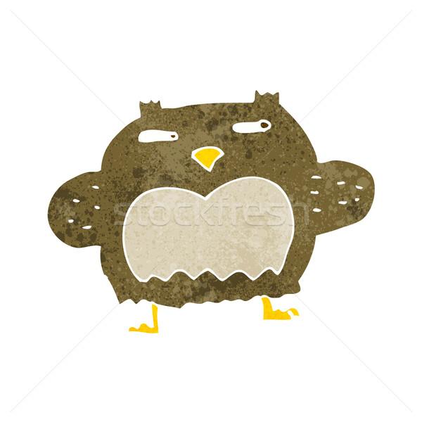 cartoon suspicious owl Stock photo © lineartestpilot