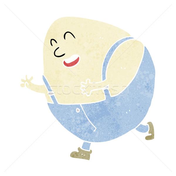 Stock photo: cartoon humpty dumpty egg character