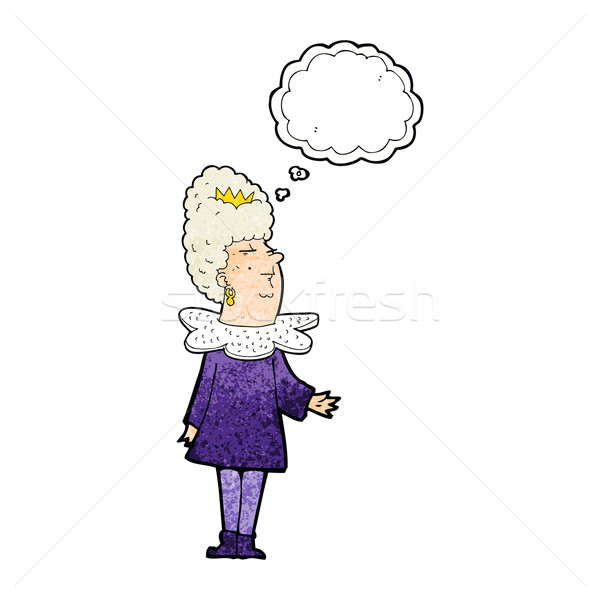 cartoon queen with thought bubble Stock photo © lineartestpilot