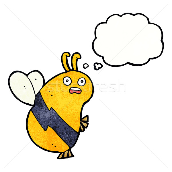 funny cartoon bee with thought bubble Stock photo © lineartestpilot