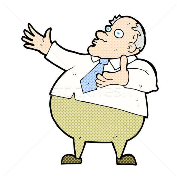 comic cartoon exasperated middle aged man Stock photo © lineartestpilot