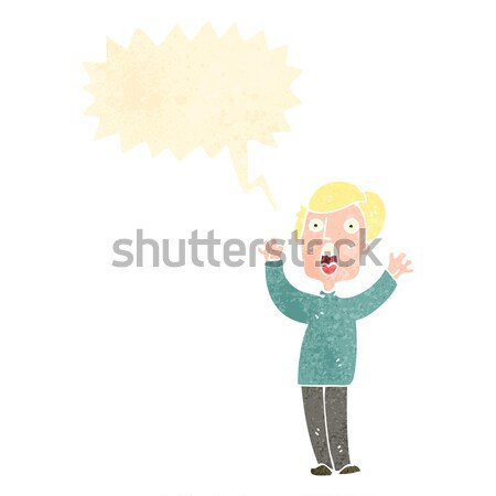 cartoon air force woman with thought bubble Stock photo © lineartestpilot