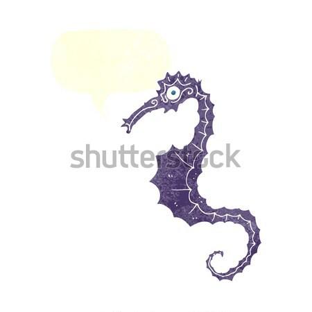 Rajz tenger ló gondolatbuborék kéz terv Stock fotó © lineartestpilot
