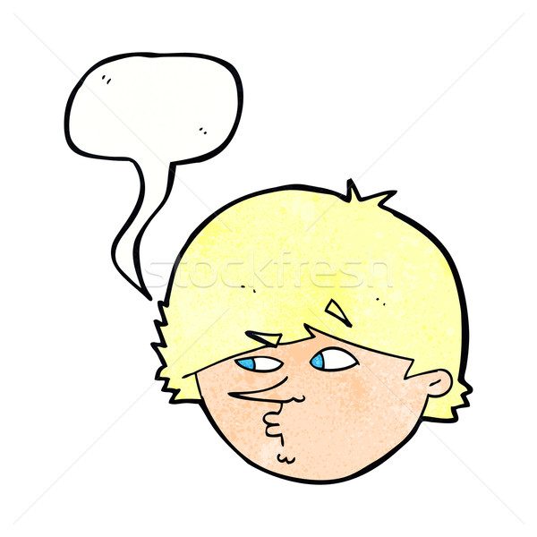 cartoon suspicious man with speech bubble Stock photo © lineartestpilot