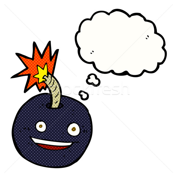 cartoon burning bomb with thought bubble Stock photo © lineartestpilot