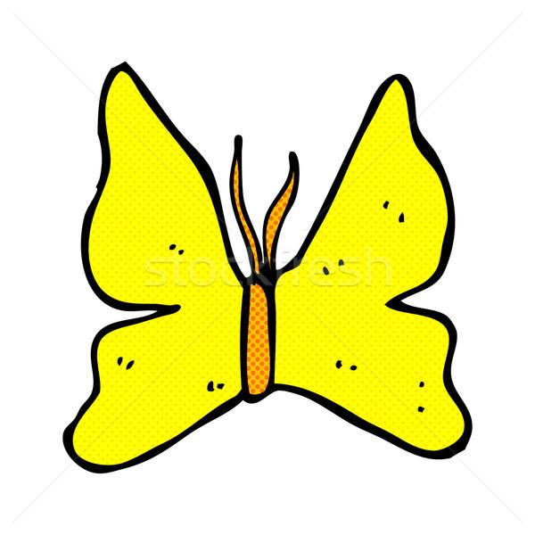 Képregény rajz pillangó szimbólum retro képregény Stock fotó © lineartestpilot