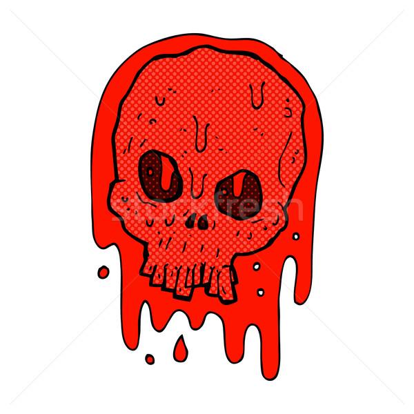 comic cartoon bloody skull Stock photo © lineartestpilot