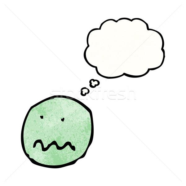 漫画 神経質な 顔 シンボル テクスチャ 手 ストックフォト © lineartestpilot