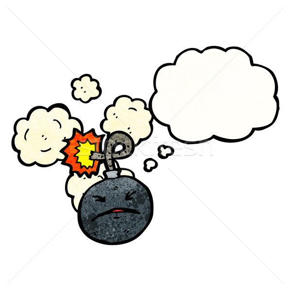 cartoon bomb with face Stock photo © lineartestpilot