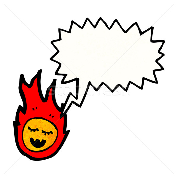 Konuşma meteor karikatür Retro çizim sevimli Stok fotoğraf © lineartestpilot