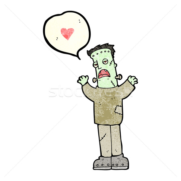 cartoon frankenstein's monster in love Stock photo © lineartestpilot