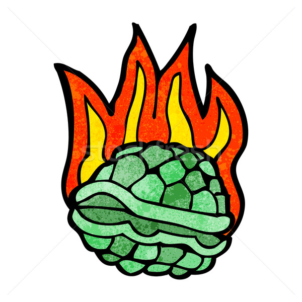 Cartoon черепаха искусства ретро оболочки рисунок Сток-фото © lineartestpilot