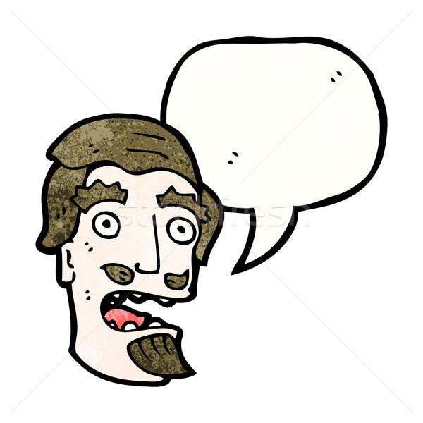 cartoon shocked man with goatee beard Stock photo © lineartestpilot