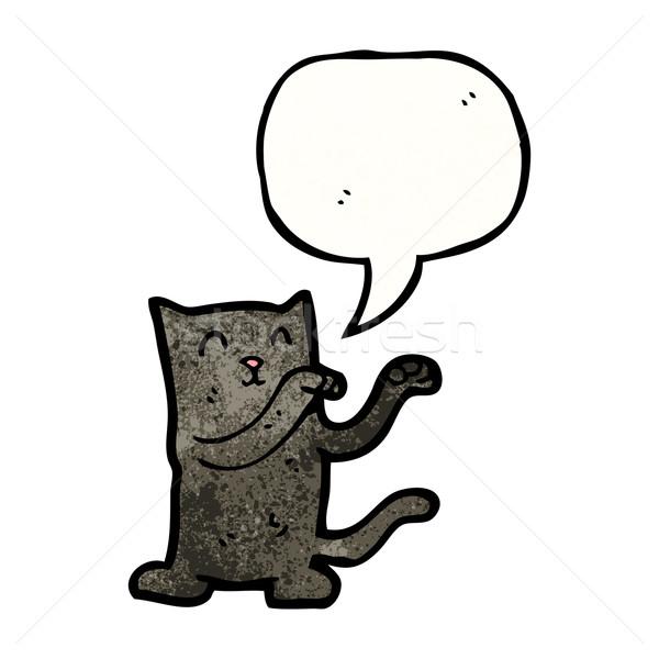 かわいい 黒猫 漫画 レトロな 実例 文字 ストックフォト © lineartestpilot