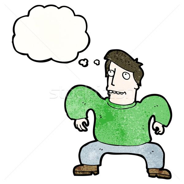 cartoon squatting man Stock photo © lineartestpilot