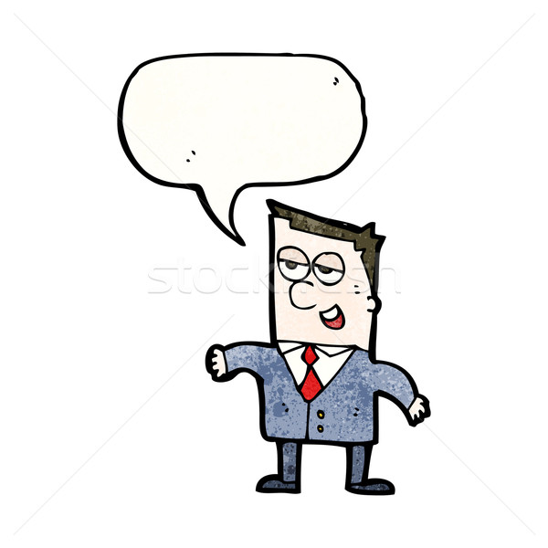 продавцом Cartoon человека искусства бизнесмен ретро Сток-фото © lineartestpilot