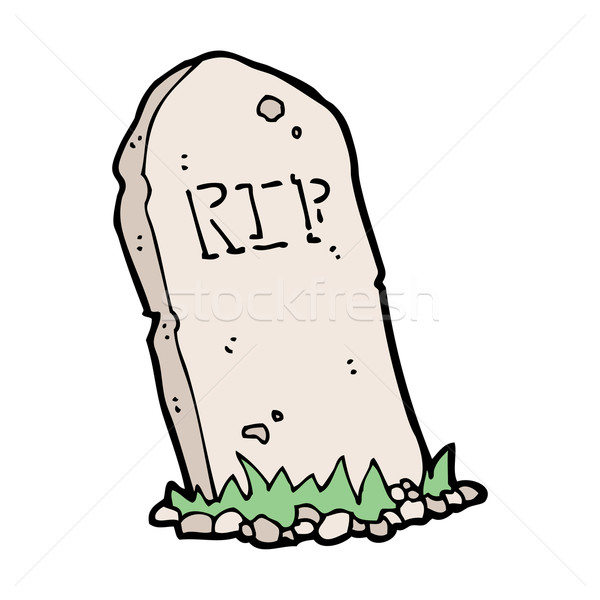 Karikatür mezar el dizayn çılgın Stok fotoğraf © lineartestpilot