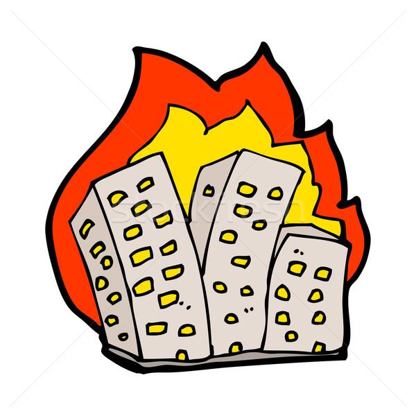 cartoon burning buildings Stock photo © lineartestpilot