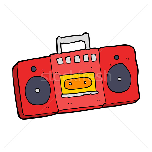 cartoon radio cassette player Stock photo © lineartestpilot