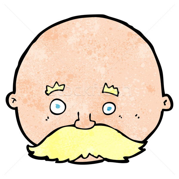cartoon bald man with mustache Stock photo © lineartestpilot